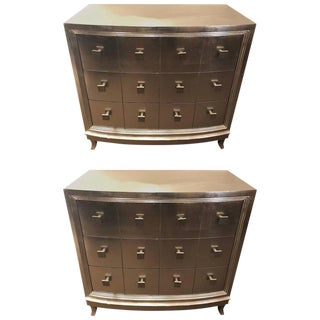 Hollywood Regency Style Demilune Chests or Nightstands or Commodes - a Pair