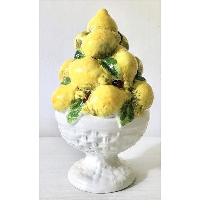 Italian Majolica Lemon Topiary ( 2 Available), Mid-Century - Image 6 of 11