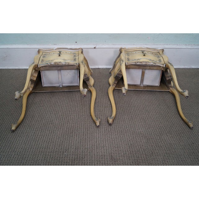 Vintage 1940s Painted Bombe Nightstands - A Pair - Image 10 of 10
