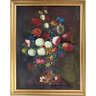 Dutch Style Floral Still-Life Oil Painting