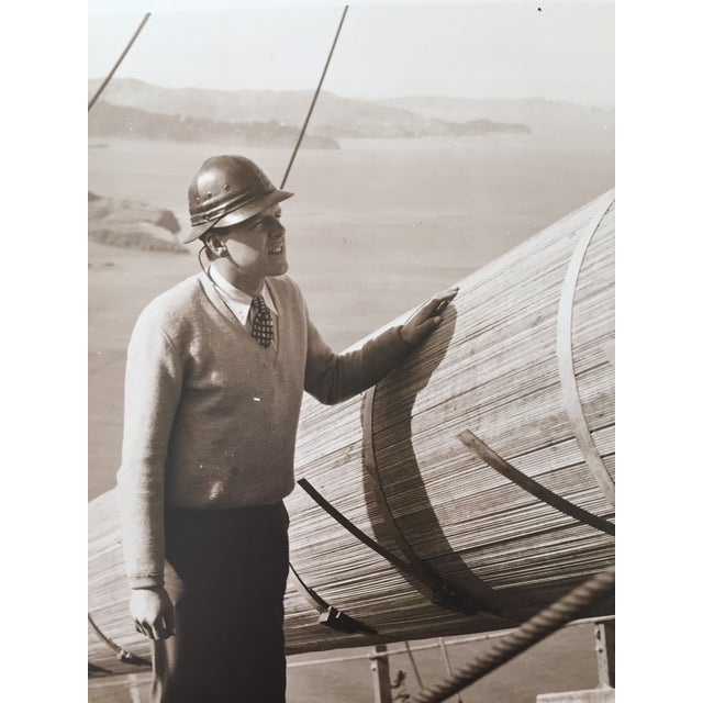 Vintage Photo Golden Gate Bridge Construction - Image 3 of 4