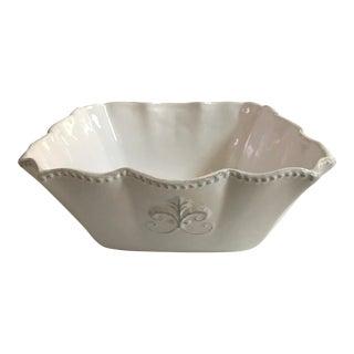 Fleur De Lis Large Serving Bowl