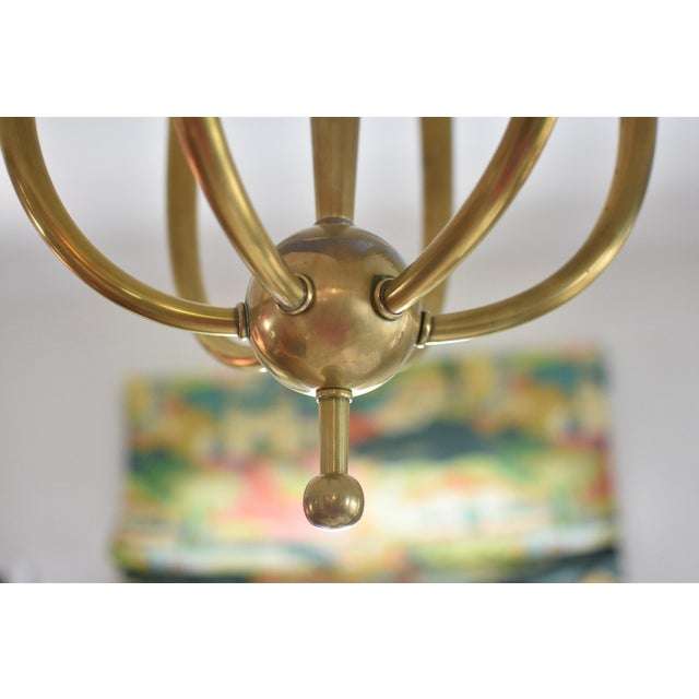 Brass Chandelier With Six Lights - Image 6 of 8