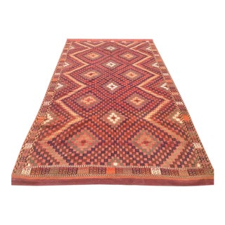 Vintage Turkish Oushak Area Rug - 5′5″ × 9′10″