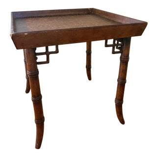 Asian Chinoiserie Accent End Table