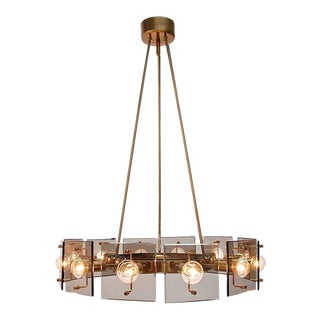 Twelve-Light Italian Chandelier by Crystal Arte