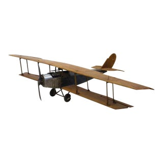 1920's Hand Made Model Of Airplane Jenny