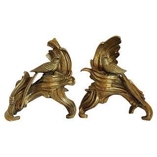 Vintage Brass Bird Bookends - A Pair