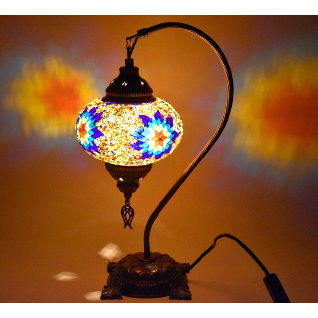 Turkish Handmade Mosaic Lamp - Image 3 of 7