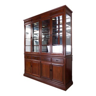 Chinese Antique Rosewood China Cabinet