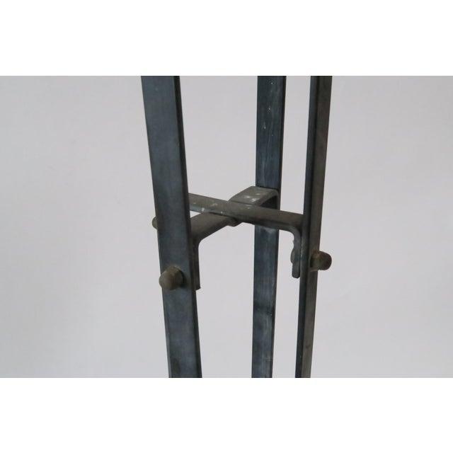 Image of Vintage Wood & Metal Plant Stand