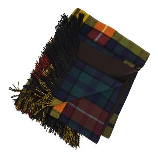 Vintage Classic Glen Plaid Wool Blend Blanket