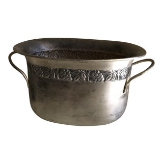Boho Metal Engraved Plant Vessel