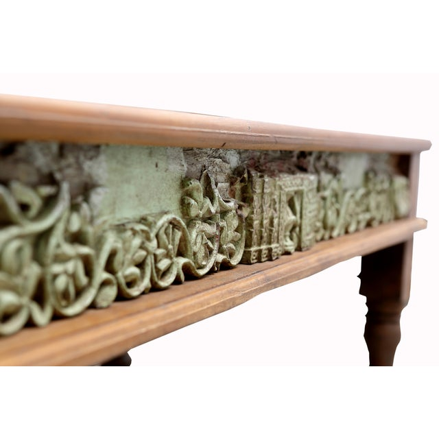 Verde Antique Architectural Panel Coffee Table - Image 4 of 7