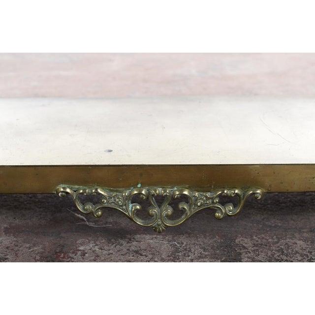 Antique Victorian Brass & Beveled Mirror Hall Tree - Image 6 of 9