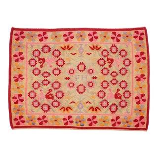 Vintage Peruvian Rug Fernanda Handwoven - 4′11″ × 6′9″