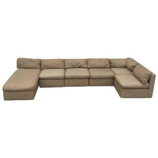 Six-Piece Milo Baughman for Thayer Coggin Sectional Sofa