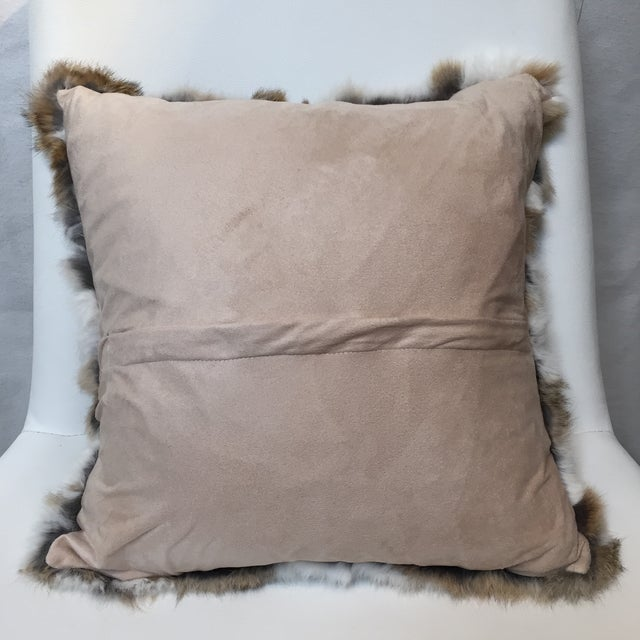 Rabbit Fur Down Pillow - Image 6 of 6