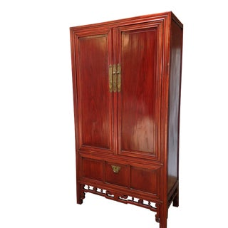 Chinese Lacquer Armoire Cabinet