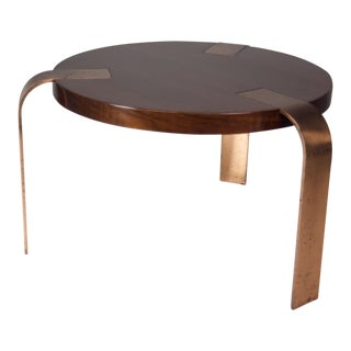 Walnut & Copper Cocktail Table