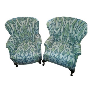 Ikat Channel-Back Chairs