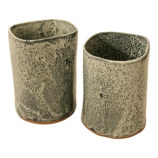Studio Pottery Vases - A Pair