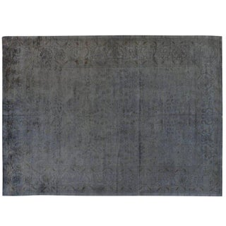 Grey Silky Wool Overdyed Rug - 9′11″ × 13′7″