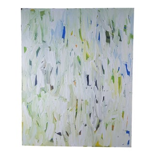 Shades of Green and White Painting