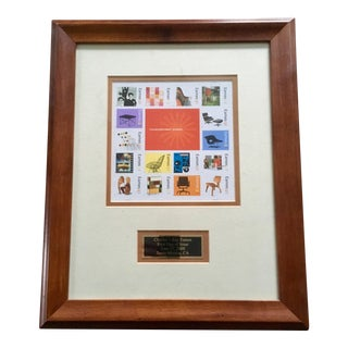 Eames Stamps Framed on First Day of Printing