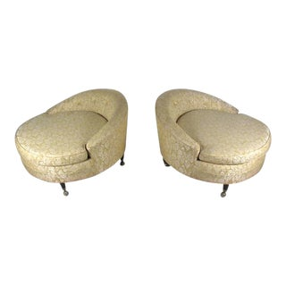 Vintage Adrian Pearsall Style UFO Lounge Chairs - A Pair