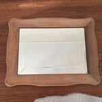 Image of Curved Wooden Mirror
