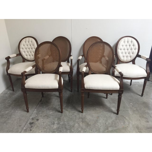 Louis XVI Style Dining Chairs- Set of 6 - Image 3 of 11