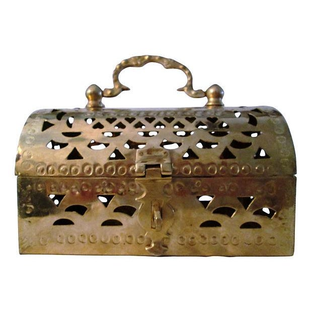 Polished Brass Cricket Box - Image 1 of 6