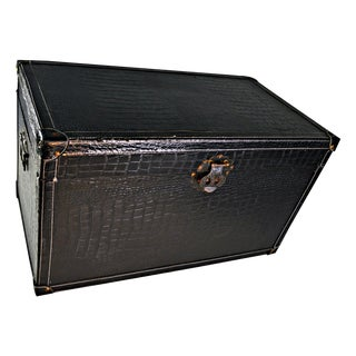 Faux Crocodile Leather Trunk