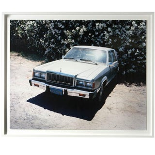 Old Ford and Flowers Framed Photograph