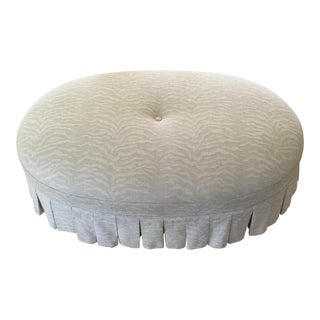 Hickory Chair Animal Print Skirted Ottoman