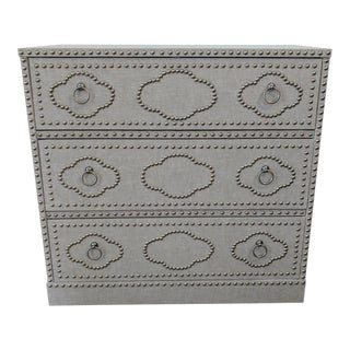Linen Wrapped Nailhead Nightstand