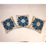 Image of Rare Jonathan Adler Blue Flower Pillows - Set of 3