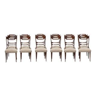 Set Of 12 Italian Newly Upholstered Chairs In the Manner of Osvaldo Borsani