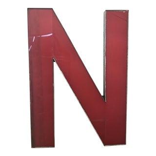 Advertising Sign Letter 'N'