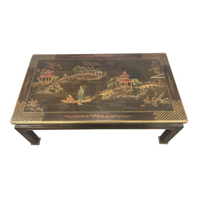 Henredon Asian Chinoiserie Inlaid Coffee Table - Image 1 of 5