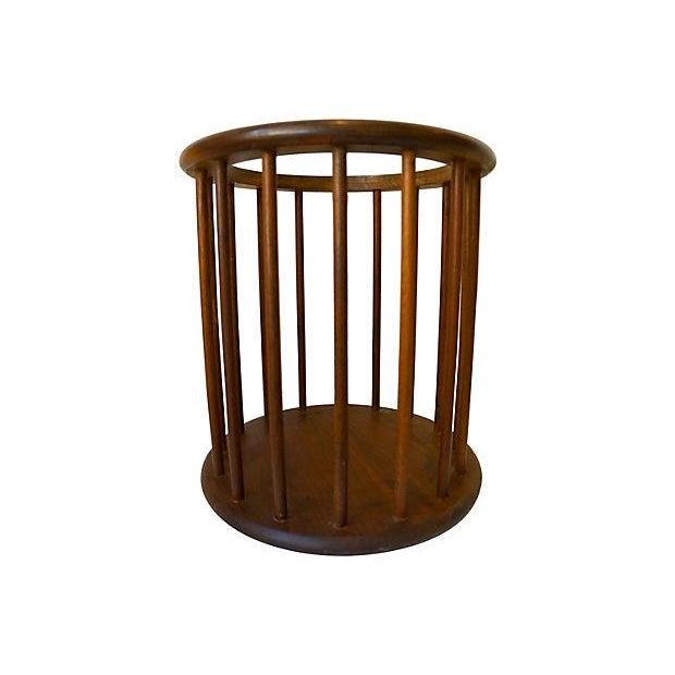 Danish Modern Spindle Waste Can - Image 1 of 2
