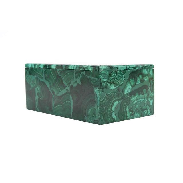 Malachite Antique Lidded Box - Image 3 of 9
