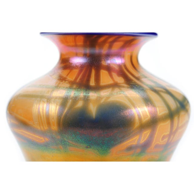 Imperial Art Glass Heart & Vine Decor Vases- A Pair - Image 7 of 9