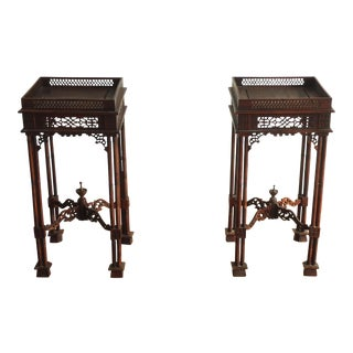 Vintage Southeast Asian Side Tables - Pair