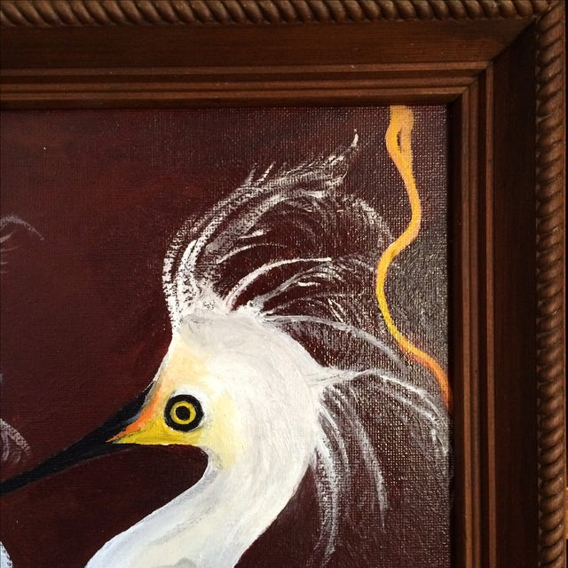 """""""Birds of a Feather"""" Original Oil Painting - Image 7 of 7"""
