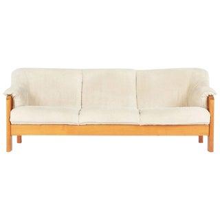 1970s Vintage J.E. Ekornes Norwegian Teak Frame 3-Seat Sofa