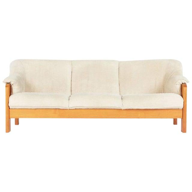 Antique Sofa Houston: 1970s Vintage J.E. Ekornes Norwegian Teak Frame 3-Seat