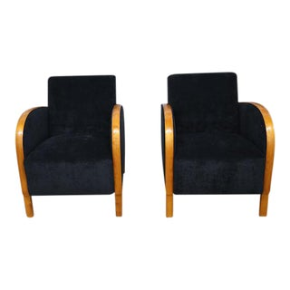 Scandinavian Art Deco Club Chairs- A Pair