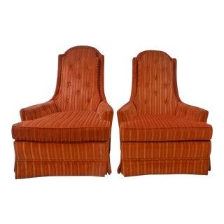 Broyhilll Swivel Rocker Club Chairs - A Pair